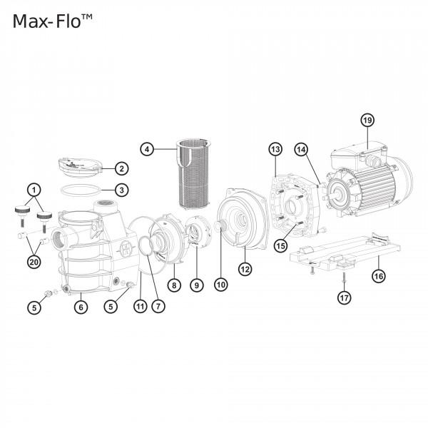 Joint de couvercle pompe Max Flo 7 et 11 m3 Hayward