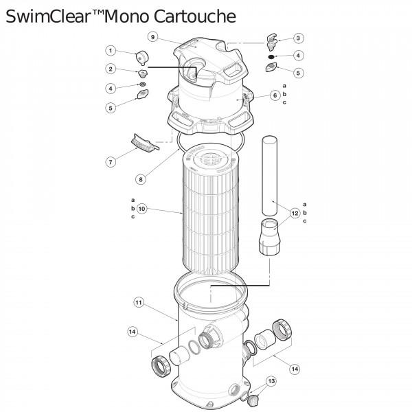 Joint torique adaptateur manomètre filtre cart. Haywar