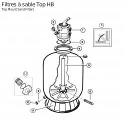 Vanne 6 voies filtre à sable 10/14m³ Hayward